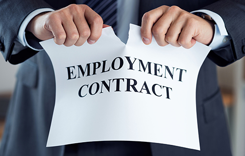Tearing up an employment contract